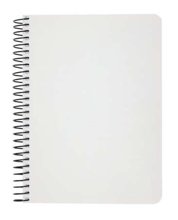 수첩: 흰색에 고립 된 빈 노트북 스톡 사진