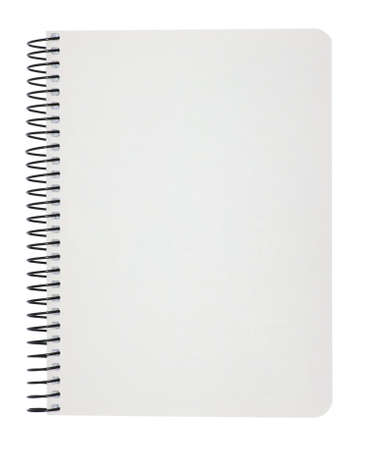blank notebook isolated on white  photo