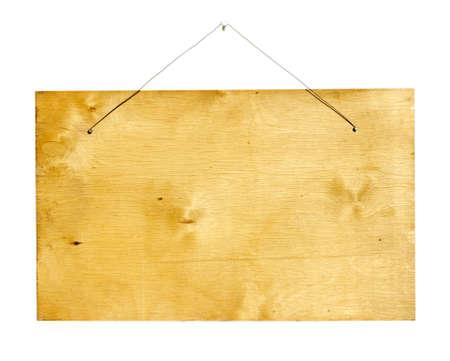 Wood sign isolated on white photo