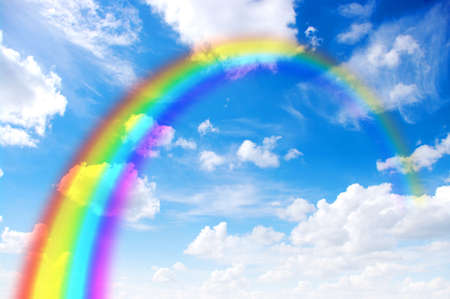 A bright rainbow in the sky  photo