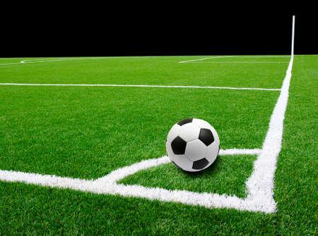 pelota de futbol: Bal�n de f�tbol en el estadio