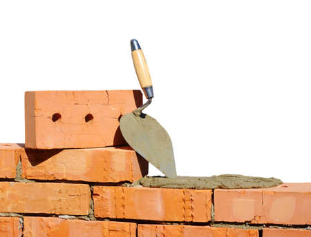 Outil pour la pose et briques pour la construction