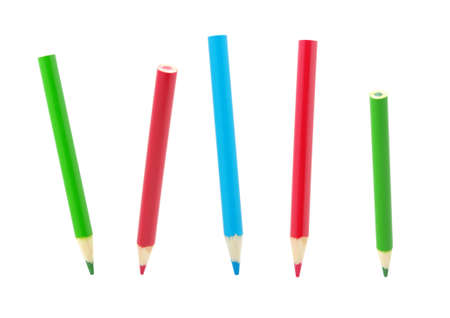 color pencil:  Color pencils isolated on a white background