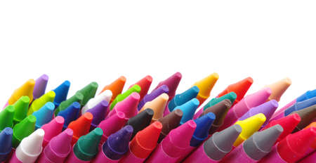 Color pencils isolated on a white background Stock Photo - 17493522