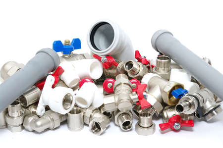 Plumbing fixtures and piping parts  Stock Photo - 17877243