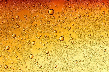 background brown: water drops on beer background
