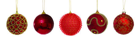 Red ball of christmas on white background photo
