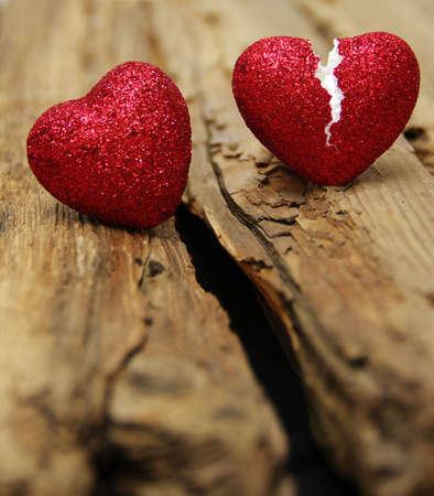 l'amour concept. Brisé tricherie cardiaque. l'amour de la fin