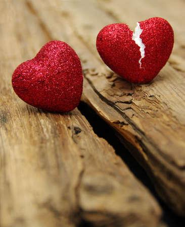 corazon roto: concepto de amor. Broken trampa corazón. el amor al final Foto de archivo