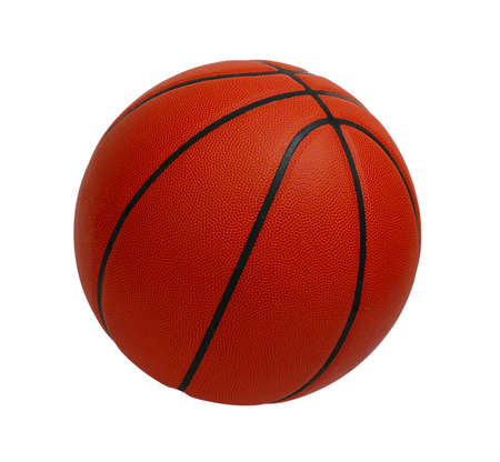 basketball ball: Basketball isolated on a white background Stock Photo