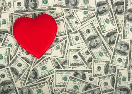 concept - the love of money photo