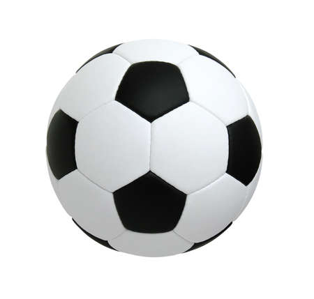 soccer ball isolated on white background  스톡 콘텐츠