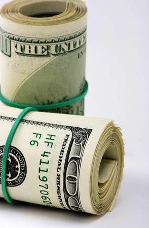 dolar: Dolar sobre un fondo blanco Foto de archivo