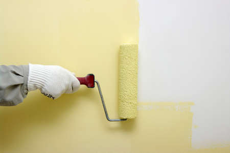 Roller Painting Wall Stock Photo, Picture And Royalty Free Image ...