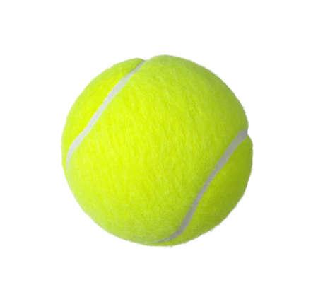 pelota: pelota de tenis aislado sobre fondo blanco