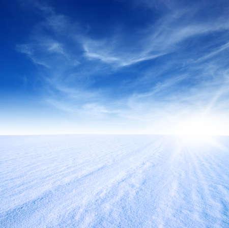 snow mountain and blue sky Banco de Imagens