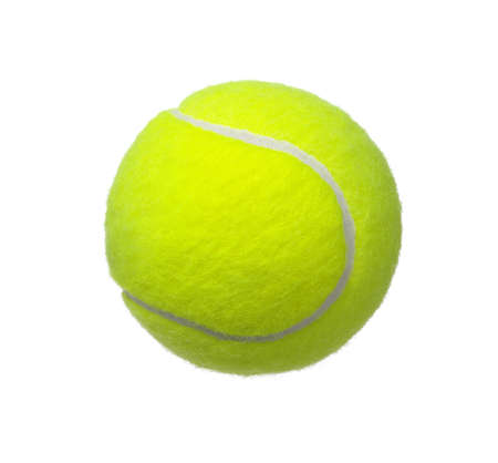 tennis ball isolated on white background 写真素材