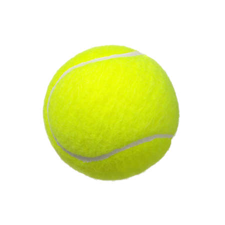 tennis bal geà ¯ soleerd op witte achtergrond