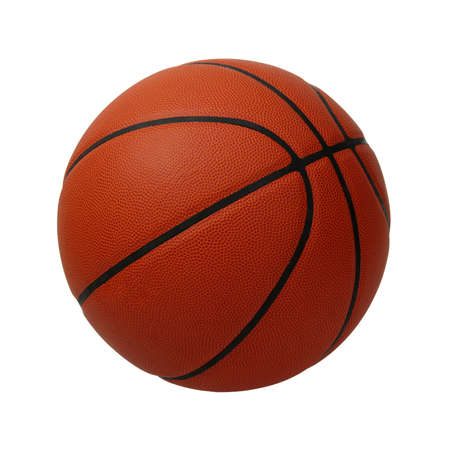 Basketball isolated on a white background Banco de Imagens