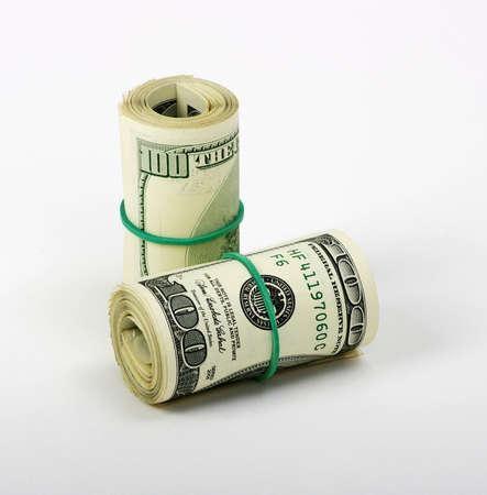 signo de pesos: Dolar sobre un fondo blanco Foto de archivo