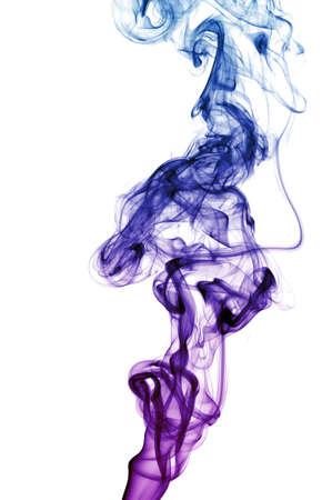 白い背景に分離された色の煙 写真素材