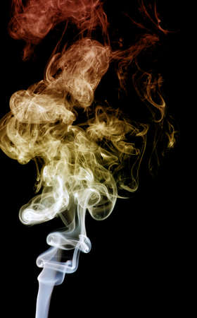 colored smoke: colored smoke isolated on white background