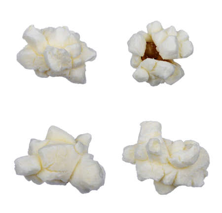 fresh pop corn: Pop corn collection isolated on white, clipping path included
