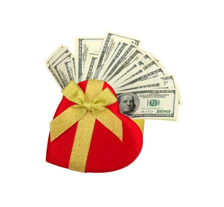 dolar: coraz�n y dolar rojo .concept - el amor al dinero