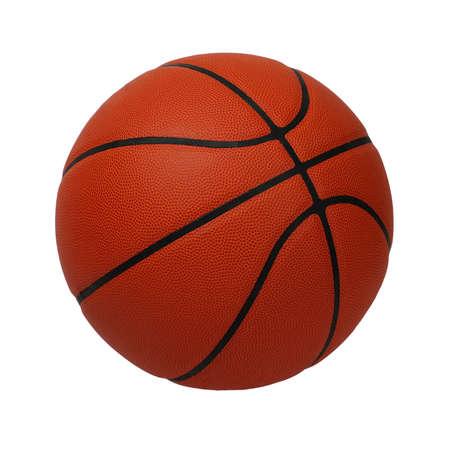 Basketbal geïsoleerd op een witte achtergrond
