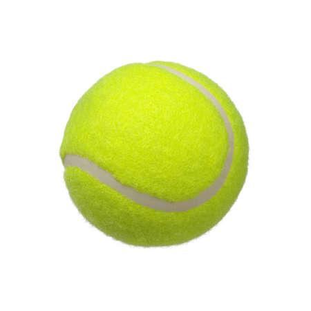 TENIS: pelota de tenis aislado sobre fondo blanco  Foto de archivo