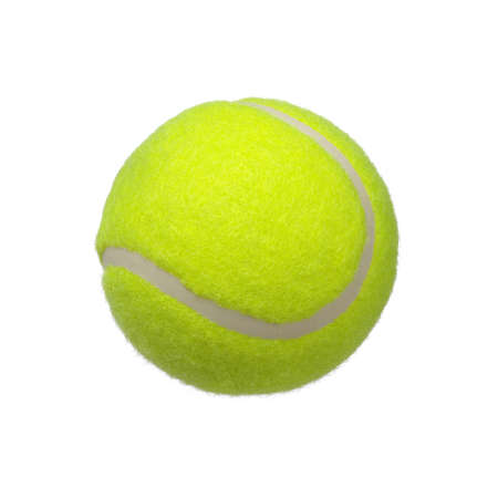sport object: tennis ball isolated on white background Stock Photo