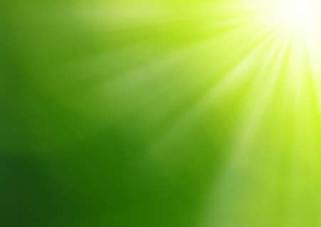 beautiful sunshine: Green blurred background and sunlight
