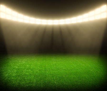 campeonato de futbol: el estadio de fútbol con las luces brillantes