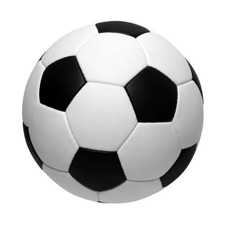 soccer field: soccer ball isolated on white Stock Photo