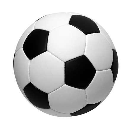 balon soccer: Bal?n de f?tbol aislado en blanco