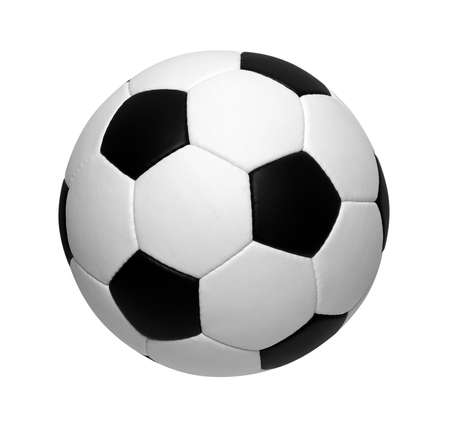 soccer ball isolated on white Stok Fotoğraf