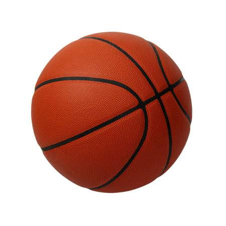 balon baloncesto: Baloncesto aislado en un fondo blanco