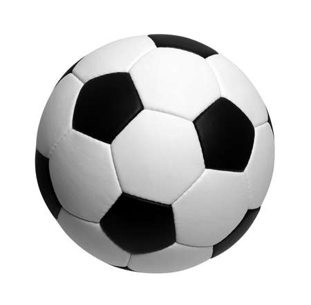 to play ball: soccer ball isolated on white Stock Photo