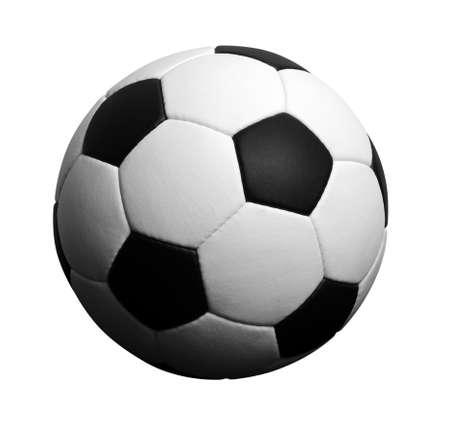 pelota de futbol: Bal?n de f?tbol aislado en blanco