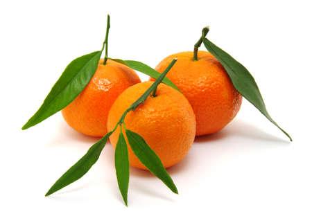 sweet segments: mandarin isolated on white background Stock Photo