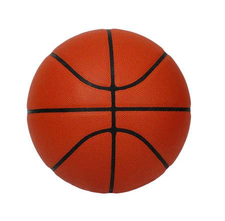 Basketball isolé sur un fond blanc