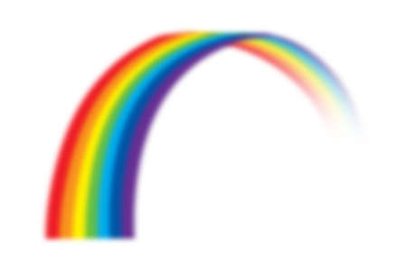 illustration of rainbow on white 版權商用圖片