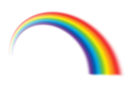 illustration of rainbow on white Archivio Fotografico