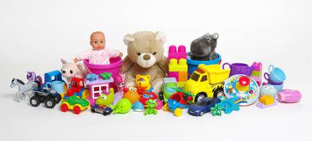 Speelgoed op een witte achtergrond