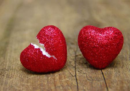 love koncept. Zlomené srdce podvádění. love konec