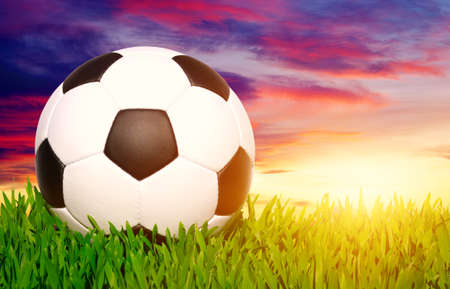 soccer ball on the grass - football