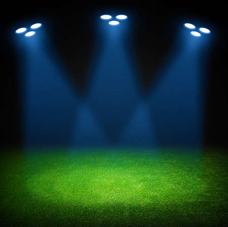 lamp shade: the soccer stadium with the bright lights