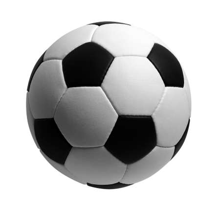 soccer ball isolated on white Banque d'images