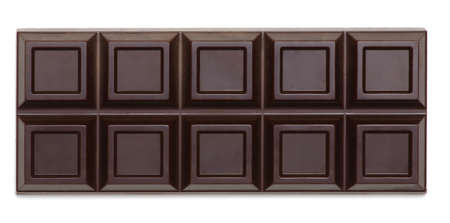 close up a chocolate bar isolated on white background Stock Photo