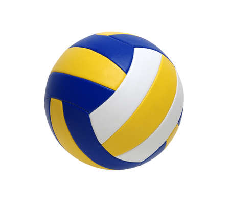 Volleyball ball isolated on white background 스톡 콘텐츠